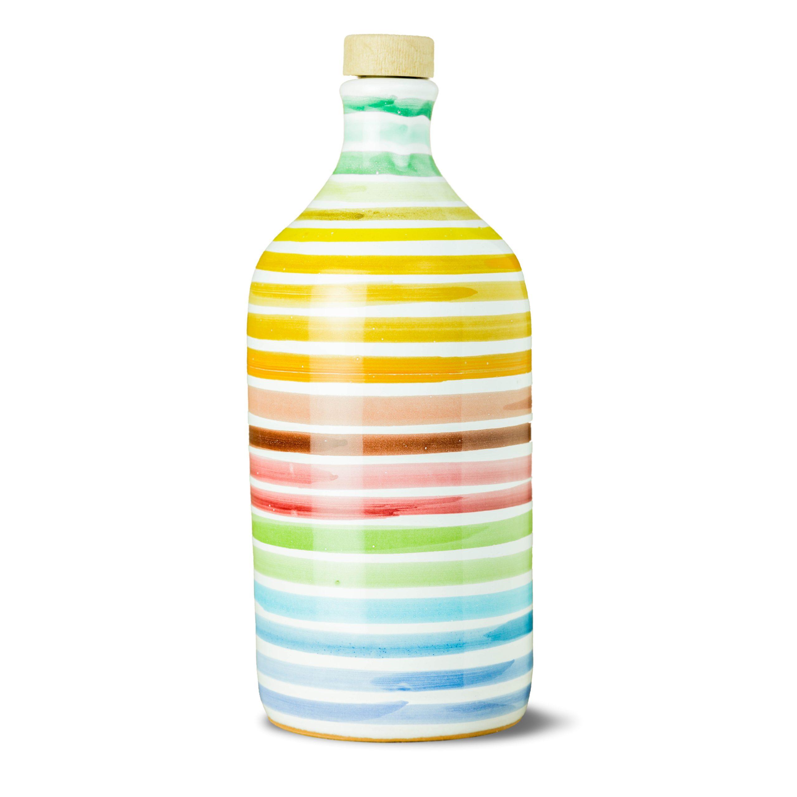 Frantoio Muraglia Keraamiline pudel Vikerkaar 500ml