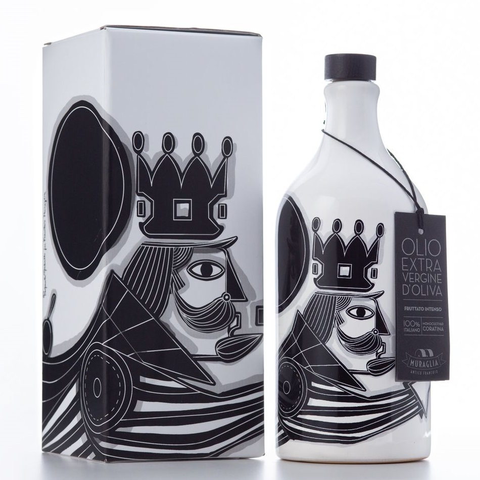 Frantoio Muraglia Limited Edition Pierpaolo Gaballo Il Re Kuningas 500ml karbis