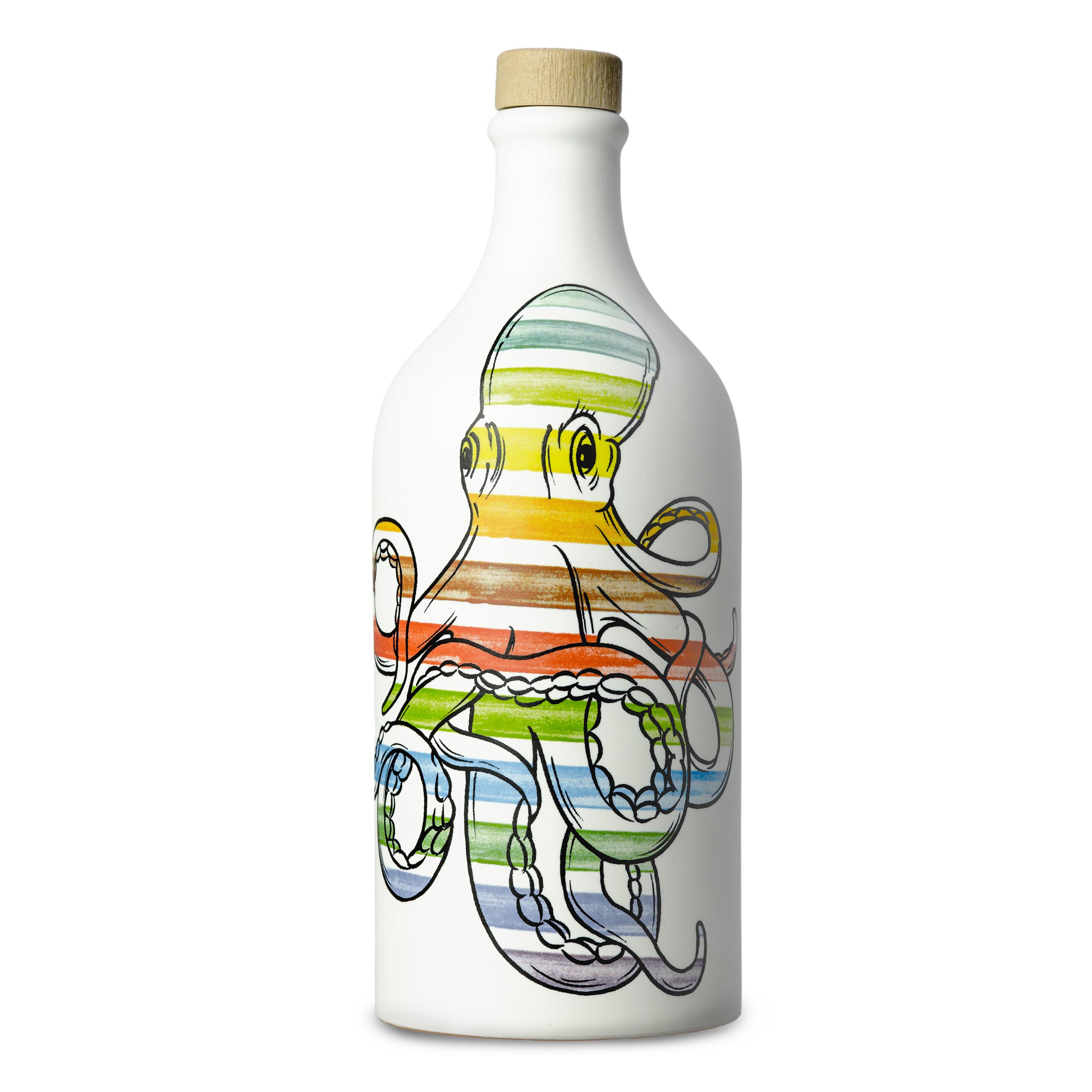 Frantoio Muraglia Keraamiline pudel Kaheksajalg 500ml