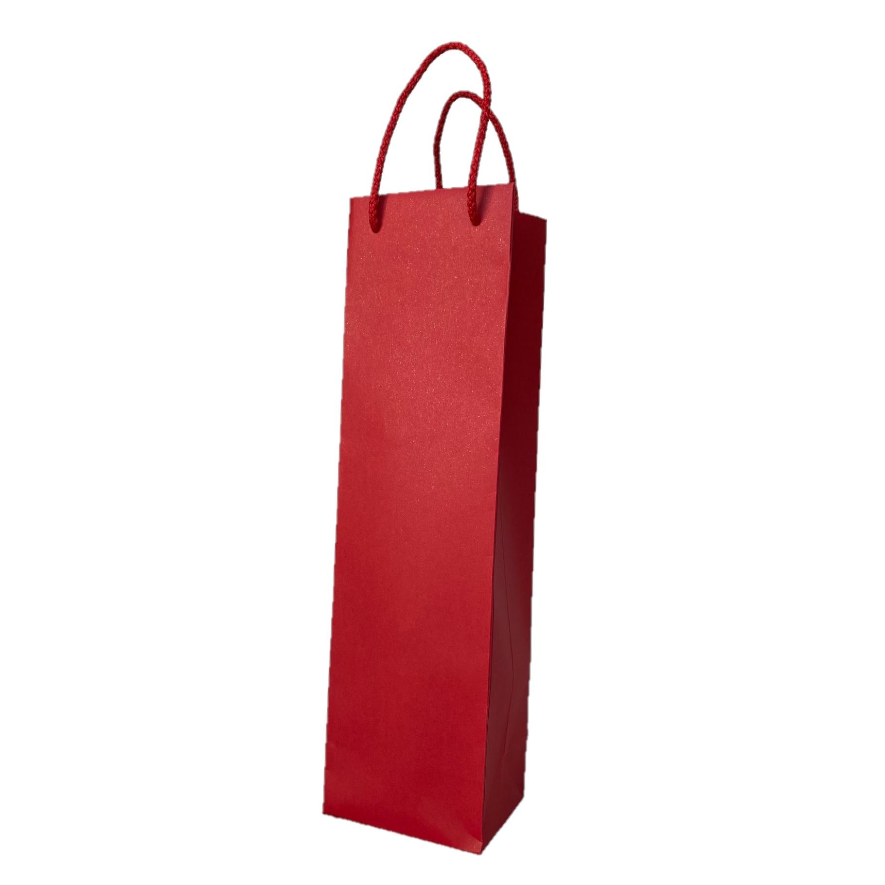 Pudeli kinkekott nöörsangaga punane