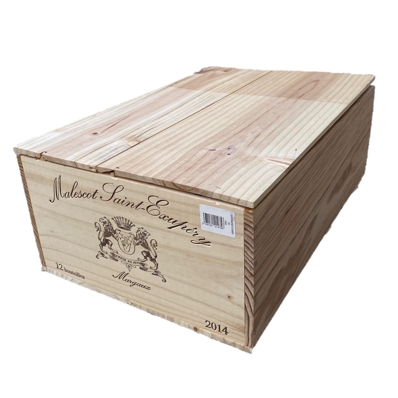 Puidust veinikast 12 pudelile Chateau Malescot-St-Exupéry 3ème Grand Cru Classé Margaux AOP 2014